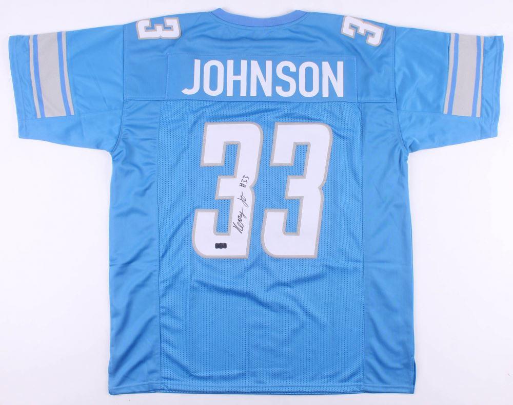 sale retailer 2afd4 f5e30 Kerryon Johnson Signed Detroit Lions Jersey (Radtke COA)