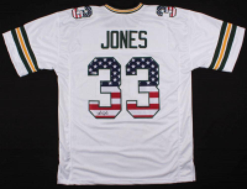 super popular 8385e a2360 Aaron Jones Signed Green Bay Packers