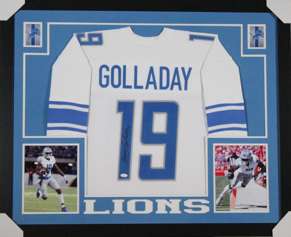 watch 4622f 66aab Kenny Golladay Signed Detroit Lions 35x43 Custom Framed ...
