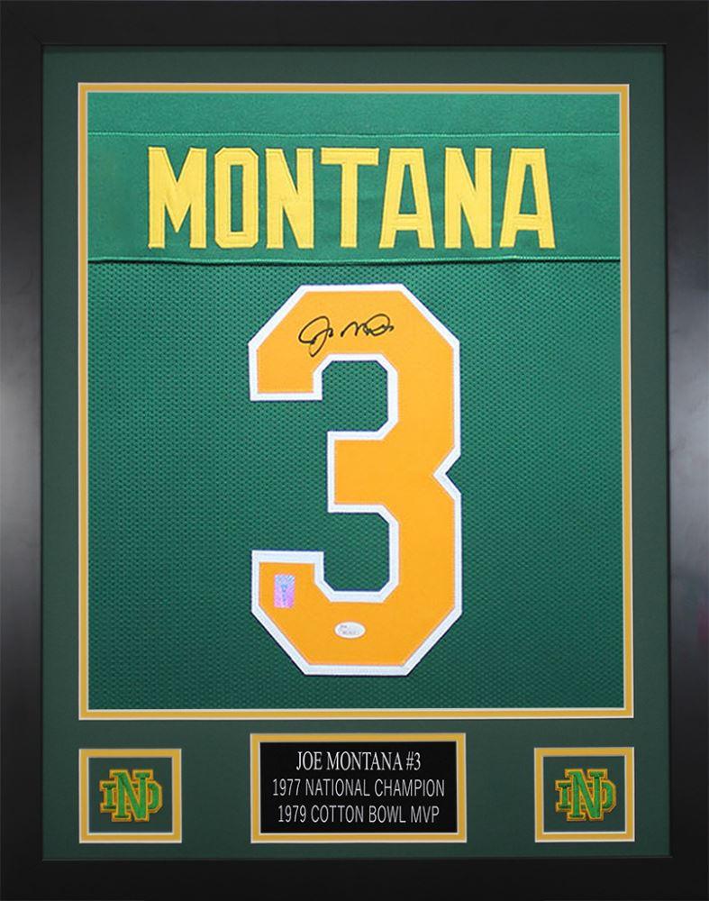 the latest 22363 568ff Joe Montana Signed Notre Dame Fighting Irish 24x30 Custom ...