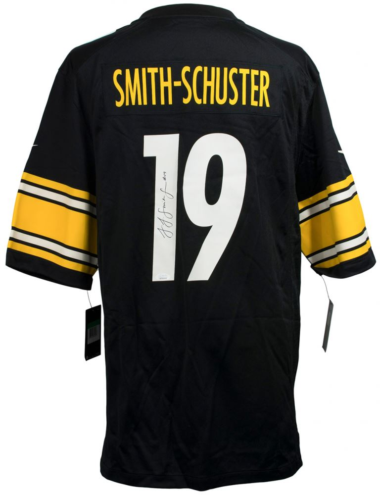 new style 94df7 03f6c JuJu Smith-Schuster Signed Pittsburgh Steelers Nike Jersey ...