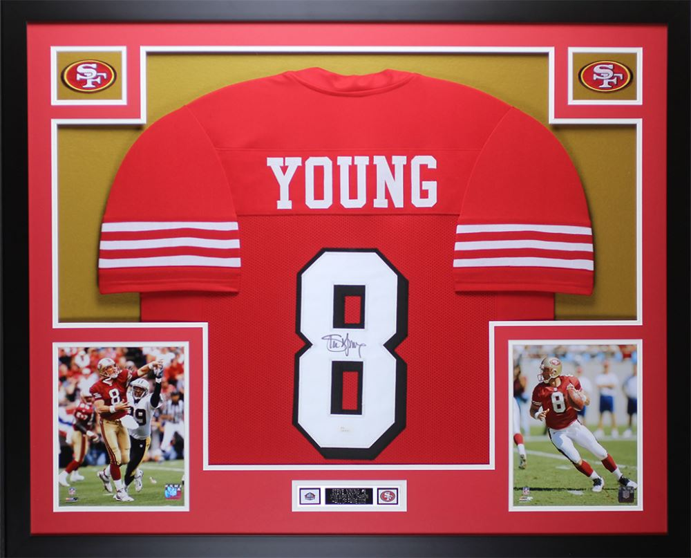 hot sale online 96844 42b99 Steve Young Signed San Francisco 49ers 35x43 Custom ...