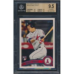 2011 Topps Update Us175 Mike Trout Rc Bgs 95