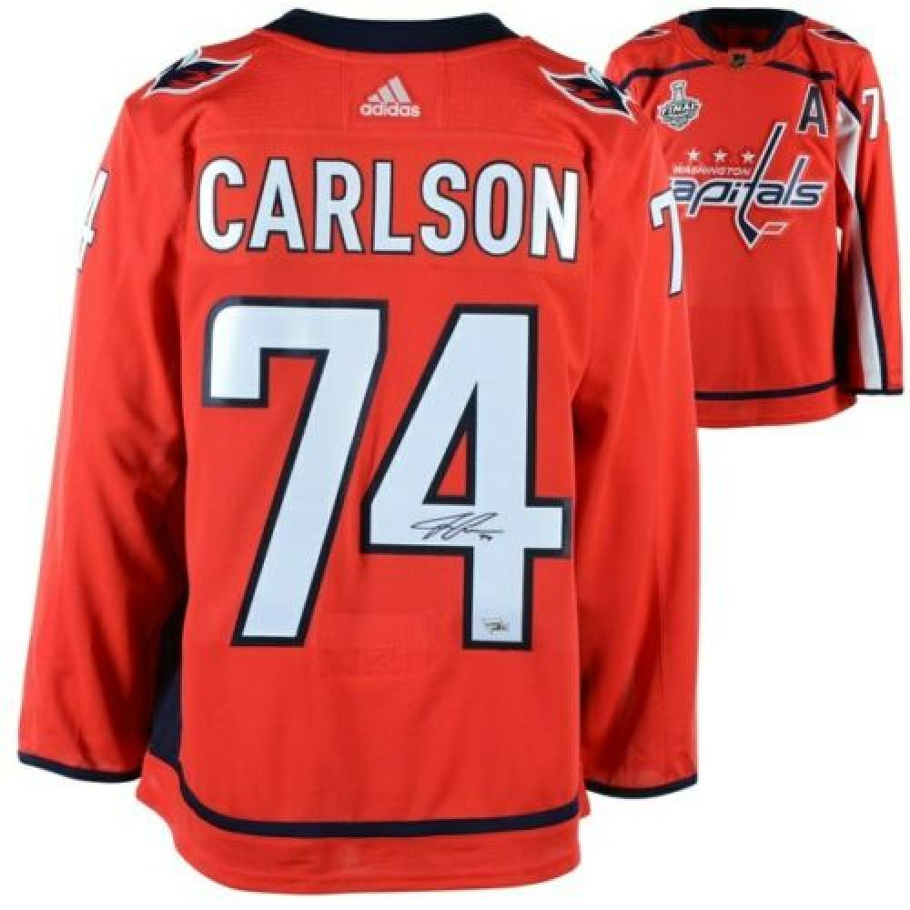 new style 68a1e ffe2e John Carlson Signed Washington Capitals 2018 Stanley Cup ...