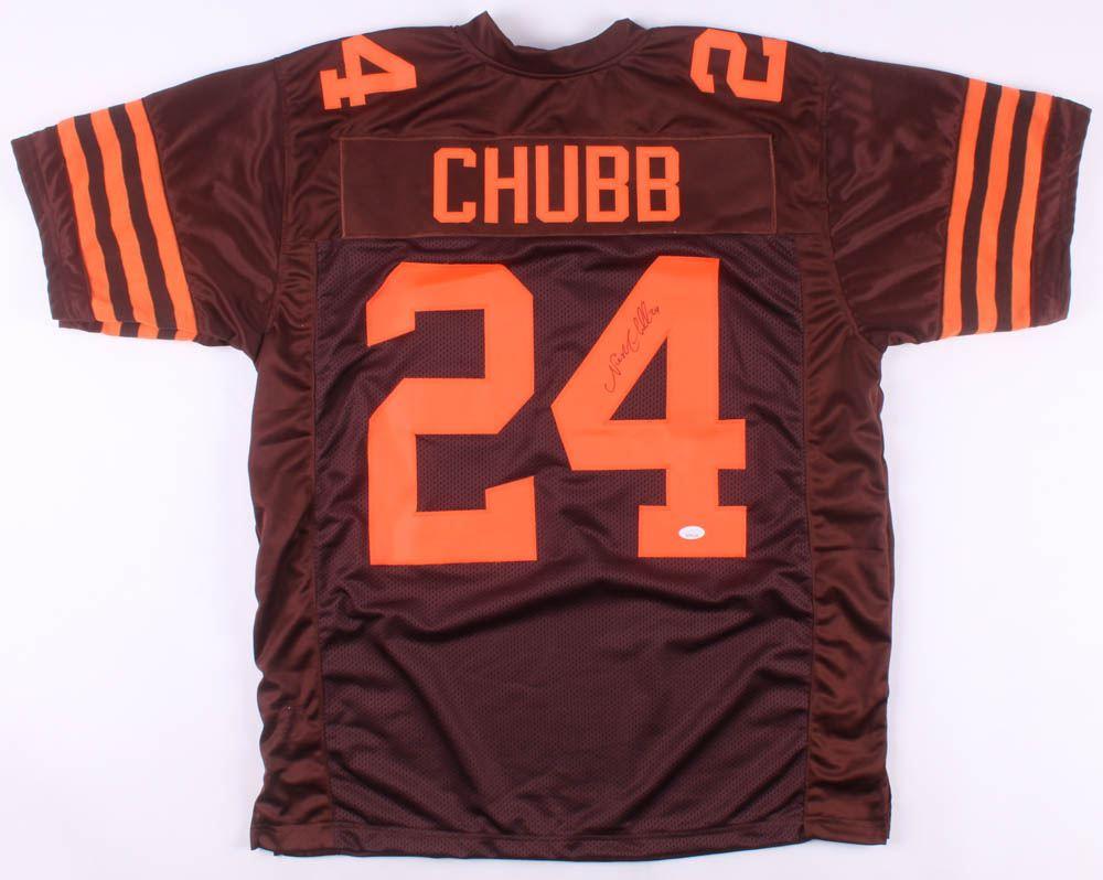 online retailer 34505 0b092 Nick Chubb Signed Cleveland Browns Jersey (JSA Hologram)