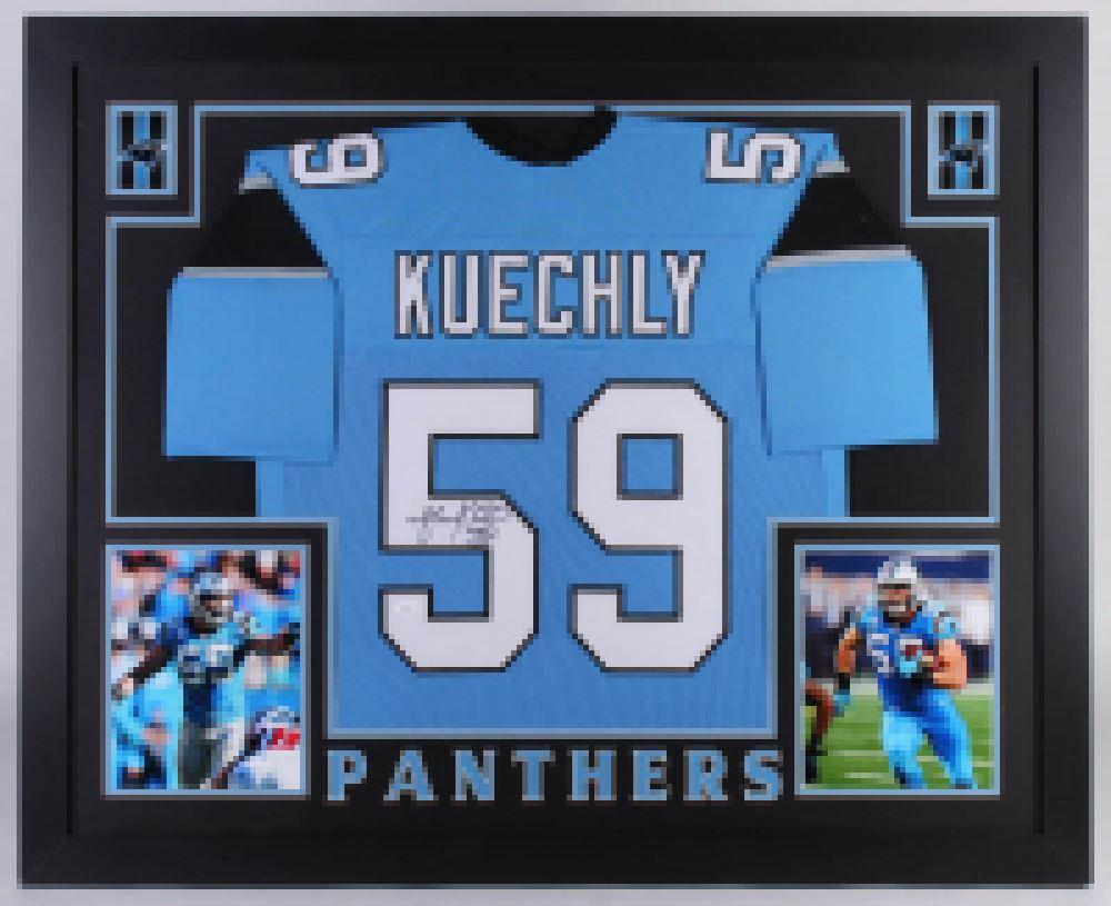 best website e36cf 2d3c2 Luke Kuechly Signed Carolina Panthers 35x43 Custom ...