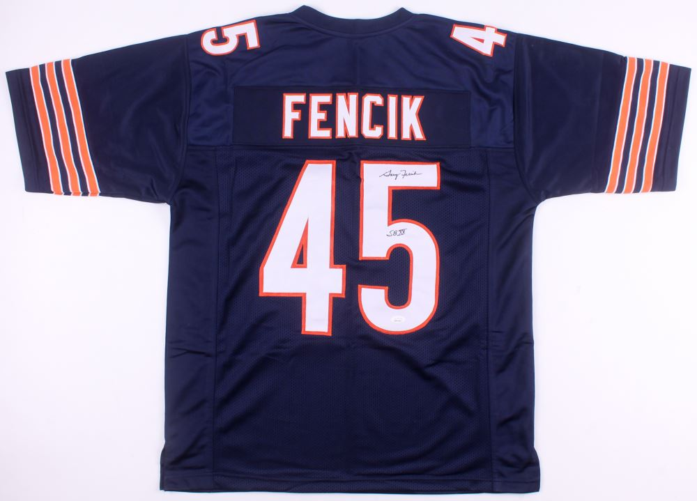 free shipping 6ffb8 65c25 Gary Fencik Signed Chicago Bears Jersey Inscribed