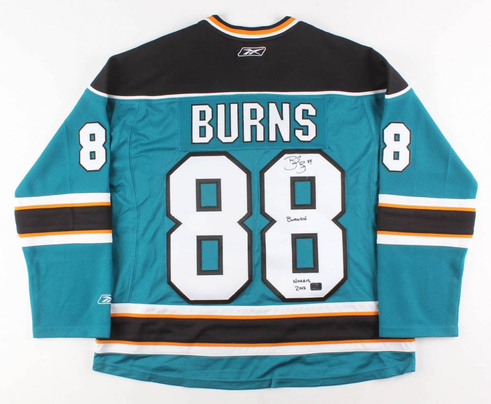 more photos 84f8d b917e Brent Burns Signed San Jose Sharks Jersey Inscribed