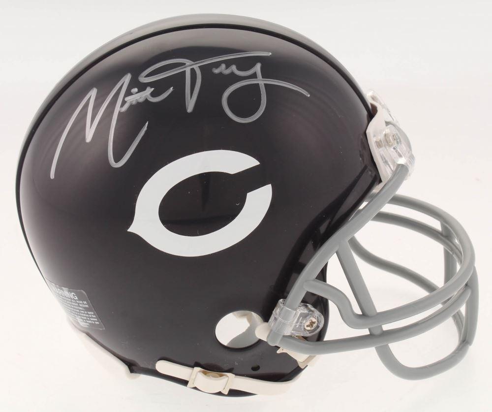new product 50a5e 08099 Mitchell Trubisky Signed Chicago Bears Mini Helmet (Fanatics ...