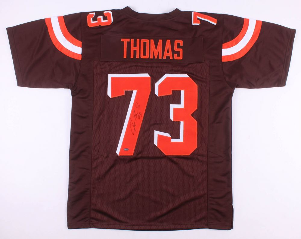watch e6c02 947d6 Joe Thomas Signed Cleveland Browns Jersey (Schwartz COA)