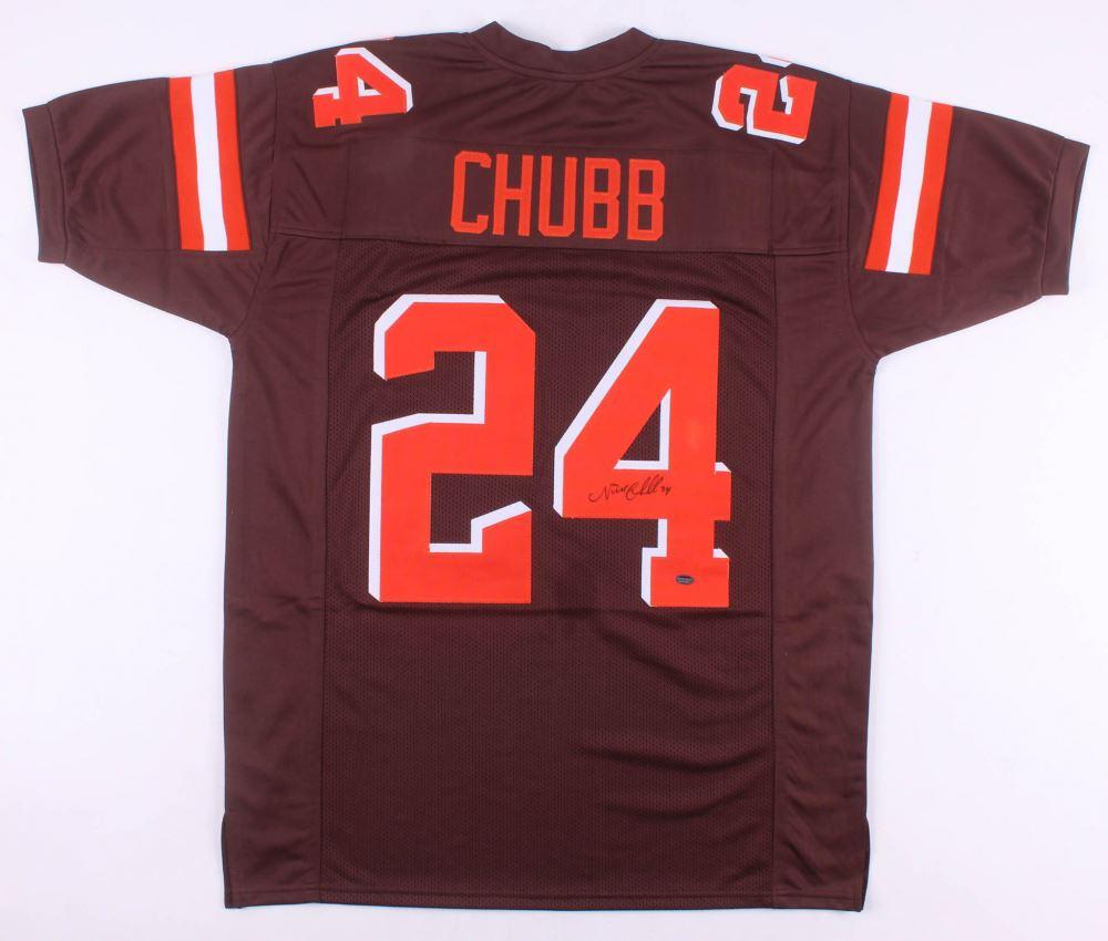 innovative design fe8f9 1d21c Nick Chubb Signed Cleveland Browns Jersey (Schwartz COA)