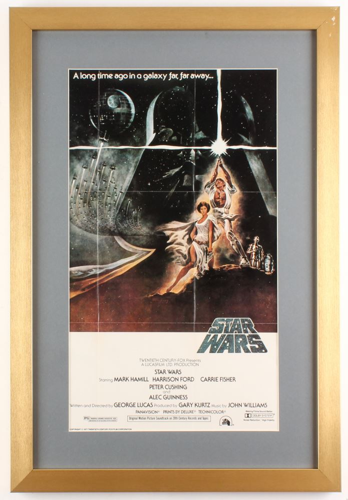 Star Wars Episode Iv A New Hope 17x25 Custom Framed Movie Poster Display