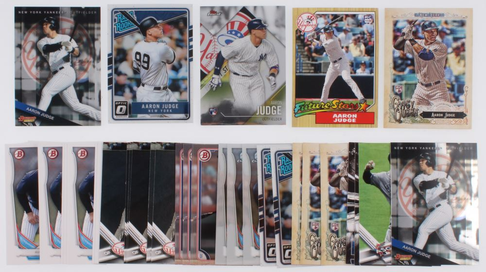 Lot of (41) Aaron Judge Baseball Cards with 2017 Donruss