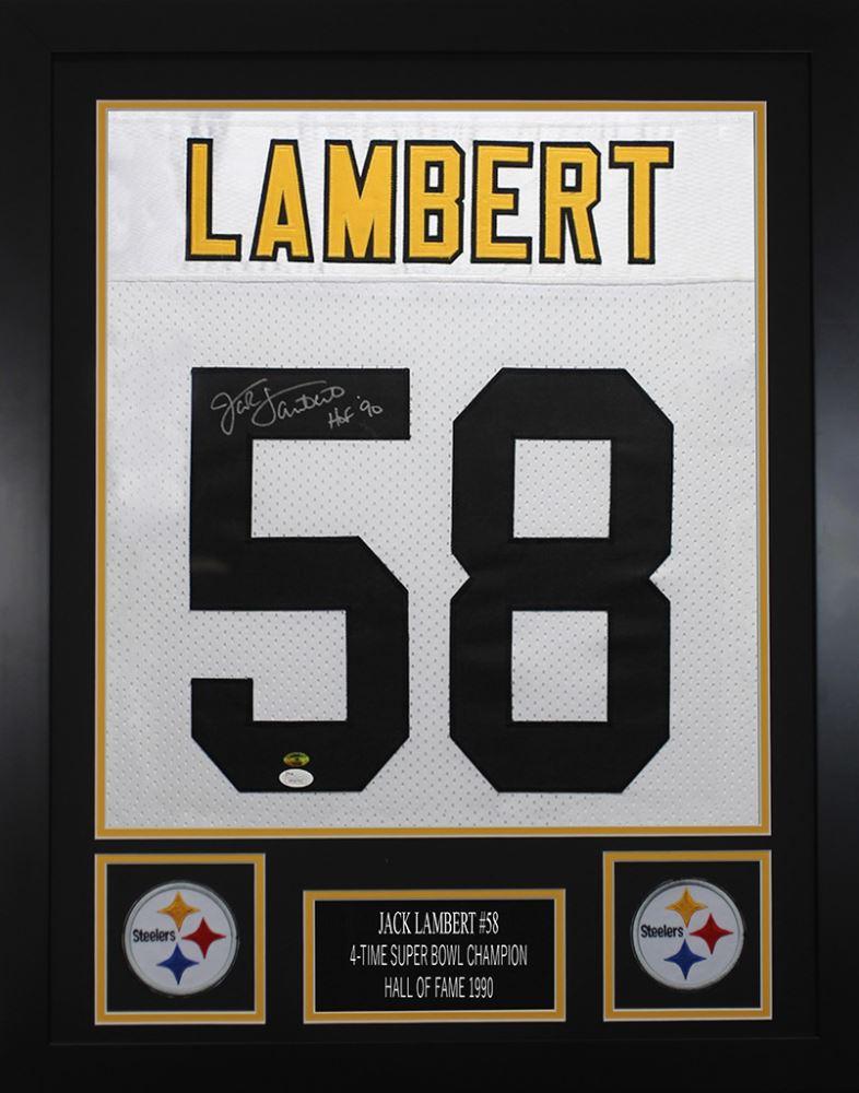 best loved 1c282 459f8 Jack Lambert Signed Pittsburgh Steelers 24x30 Custom ...