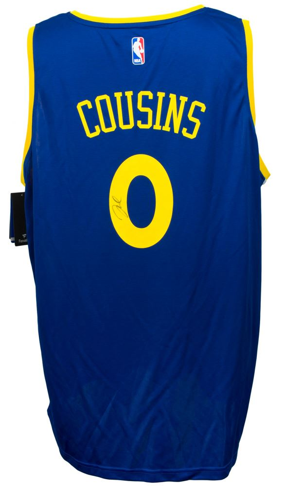 low cost f00f8 28905 DeMarcus Cousins Signed Golden State Warriors Fanatics NBA ...
