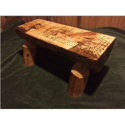 Hand Made Wood Burned Cribbage Board