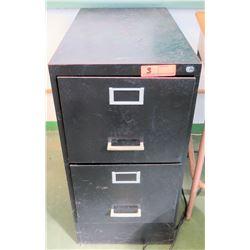Vertical 2-Drawer Black Metal File Cabinet (RM-205)