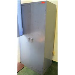 Tall Metal Storage Cabinet w/ 2 Doors & 6 Sections (RM-205)