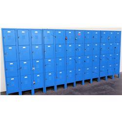Qty 48-Compartment Metal Storage Locker System