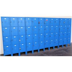 Qty 48-Compartment Metal Storage Locker System