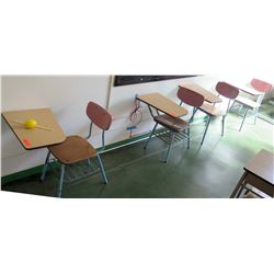 Qty 4 Desks with Attached Chairs (RM-206)
