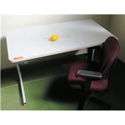 Adjustable-Height Desk w/ Rolling Office Chair (RM-206)