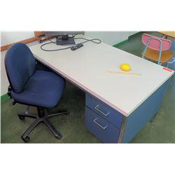 Desk w/ Rolling Office Chair (RM-206)