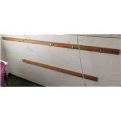 Wooden Wall-Mount Hook Strips (RM-206)