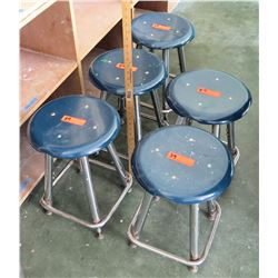 Qty 4 Stools (some w/damage) (RM-207)