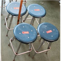 Qty 4 Stools (some w/damage along edges) (RM-207)