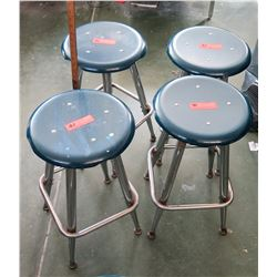 Qty 4 Stools (some w/damage) (RM-207)