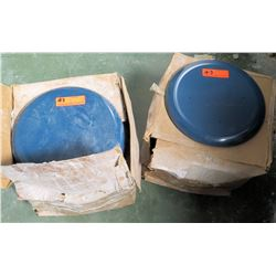 Qty 2 Cases Blue Round Seats for Stools (RM-207)