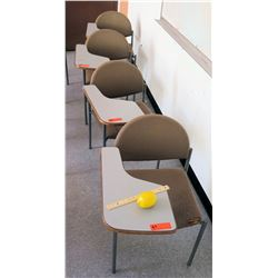 Qty 4 Desks with Attached Chairs (RM-302)