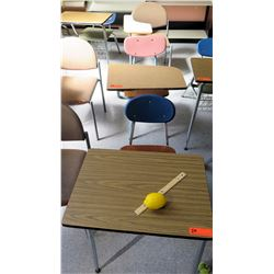 Qty 3 Desks with Attached Chairs (RM-302)