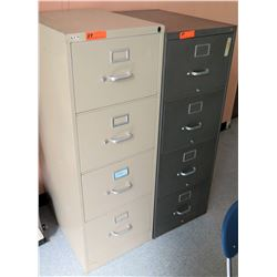Qty 2 Vertical 4-Drawer Metal File Cabinets (RM 47-64)