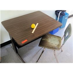 Utility Desk w/Metal Frame, Chair (RM-302)