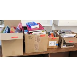 Qty 4 Boxes of Misc. Books and Supplies (RM-301)