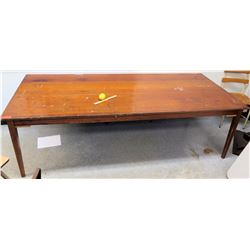 Large Wooden Rectangular Table 96 L x 42.5 W x 29.5 H (RM-301)