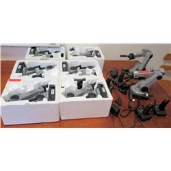 Qty 8 Goldenrod RoboArms & 4 Remotes (RM-301)