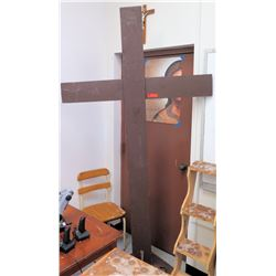 Large Wooden Cross, 8' Tall (RM-301)