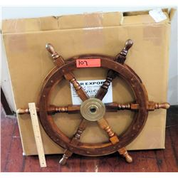 Wooden Nautical Ship Wheel (RM-Theater)