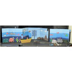 Stage Props: 3-Section Ocean Theme Painted Mural (RM-Theater)