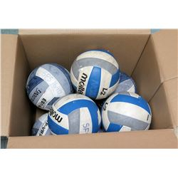 Qty 9 Molten L2 & Spaulding Volleyballs (RM-Gym)
