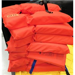 Qty 7 Orange Stearns Adult Universal Life Vests Jackets (RM-Gym)