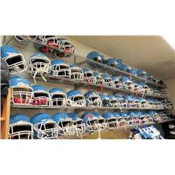 Qty 74 Blue Riddell Football Helmets w/ Face Guards (RM-Gym)