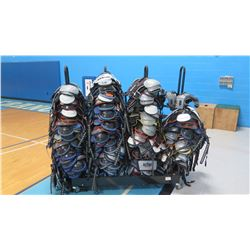 Large Lot of Football Pads w/ Rolling Rack (RM-Gym)