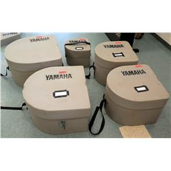 Qty 4 Bass Drum Cases & Qty 1 Snare Drum Case (RM-Music)