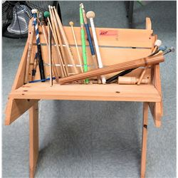 Misc. Lot of Mallets w/ Wooden Trough (RM-Music)