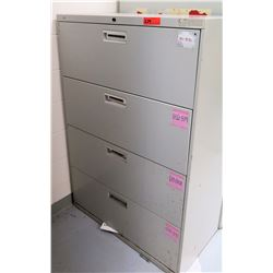HON 4-Drawer Lateral File Cabinet (RM-Music)