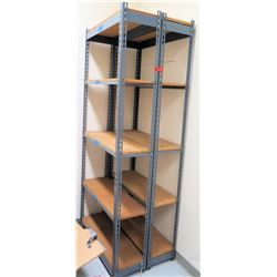 "Qty 4 Metal-Framed Shelving Units 36""W x 12""D x 84""H (RM-Music)"